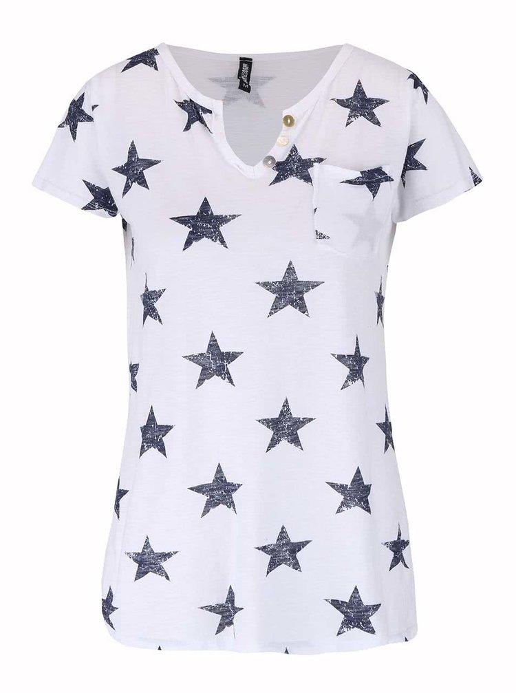 Bílé tričko s hvězdami Haily´s Stella