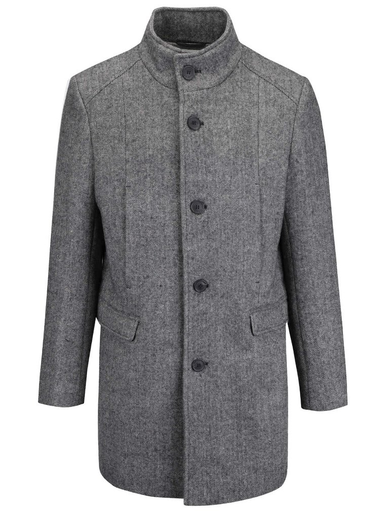 Palton gri Selected Homme New Mosto pentru bărbați