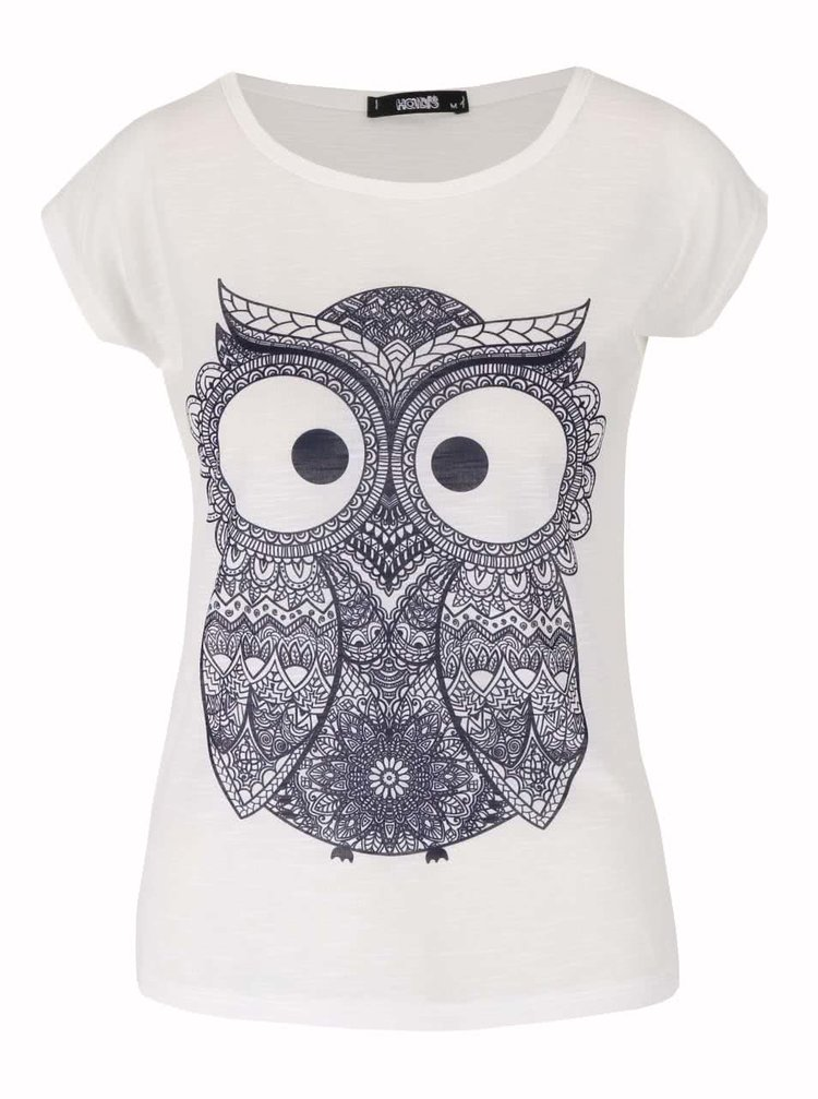 Tricou alb Haily´s Owl cu print