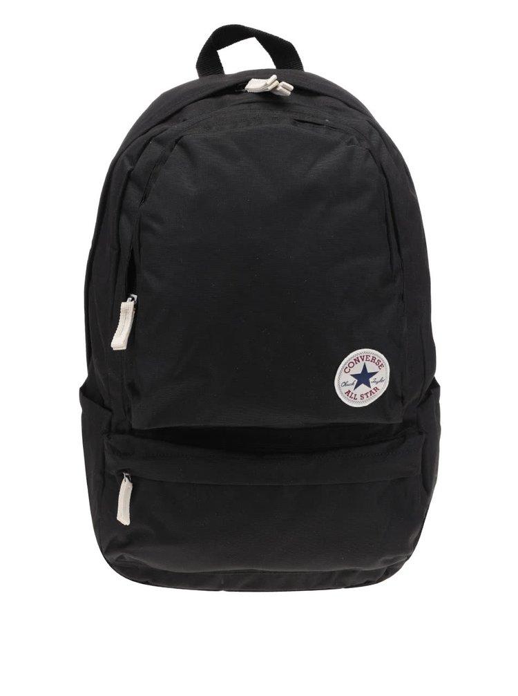 Čierny batoh s veľkým vonkajším vreckom Converse Chuck plus
