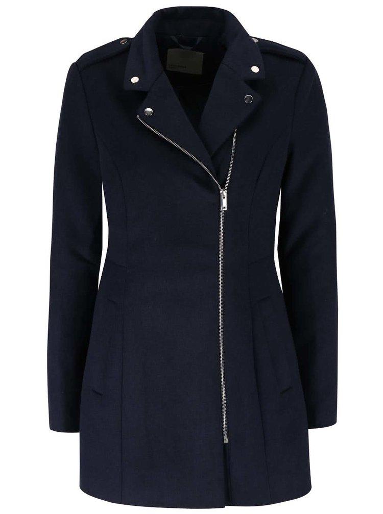 Tmavě modrý kabát se zipem VERO MODA Turner