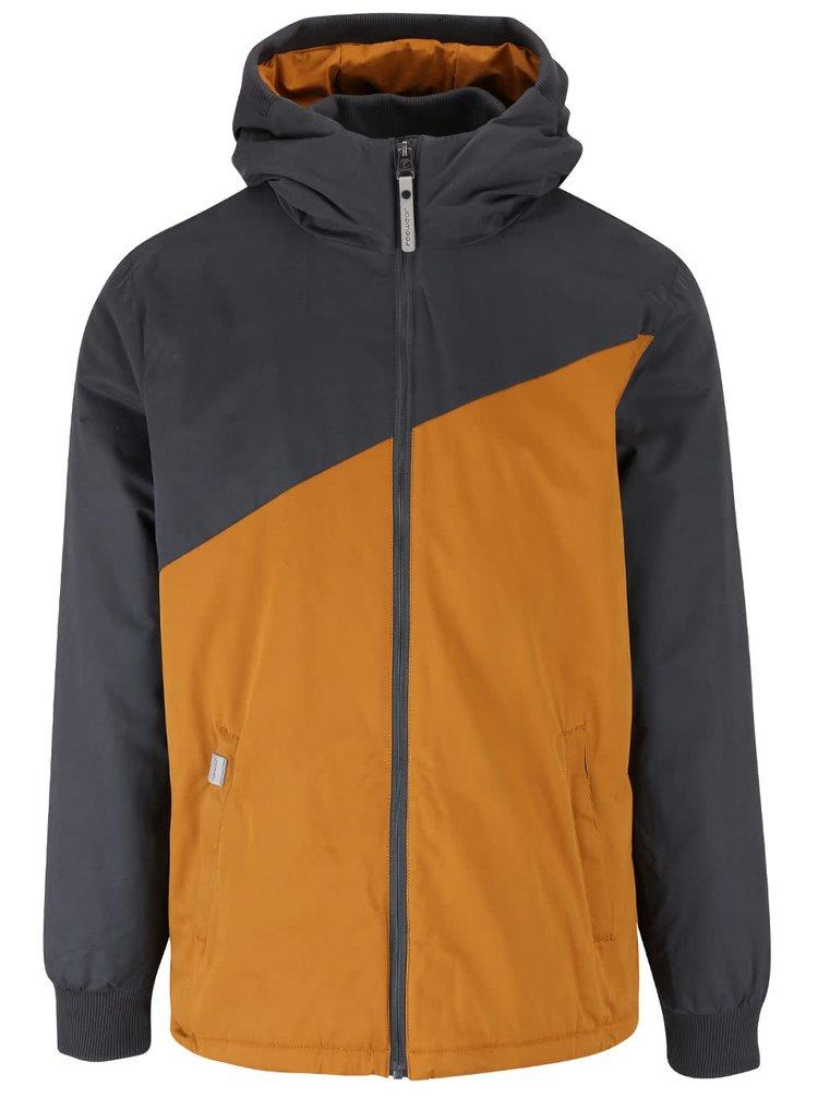 Šedo-hořčicová pánská bunda Ragwear Nugget