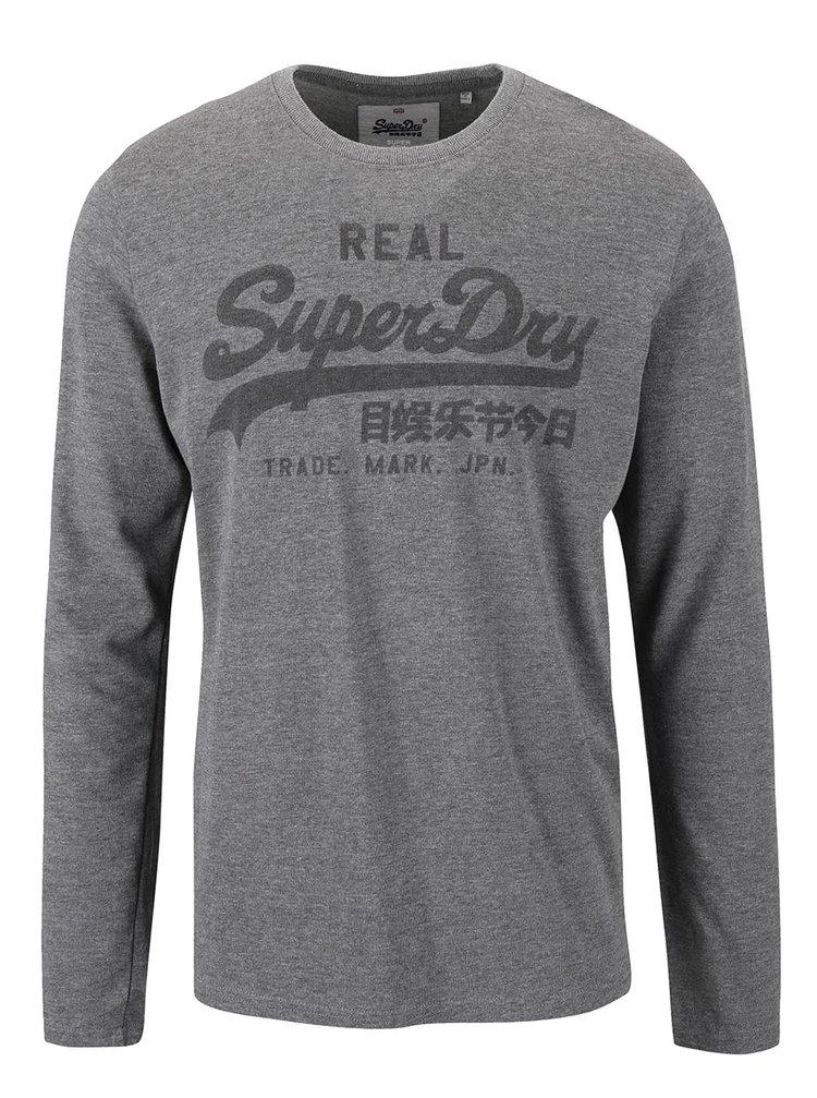 Bluză gri cu print Superdry