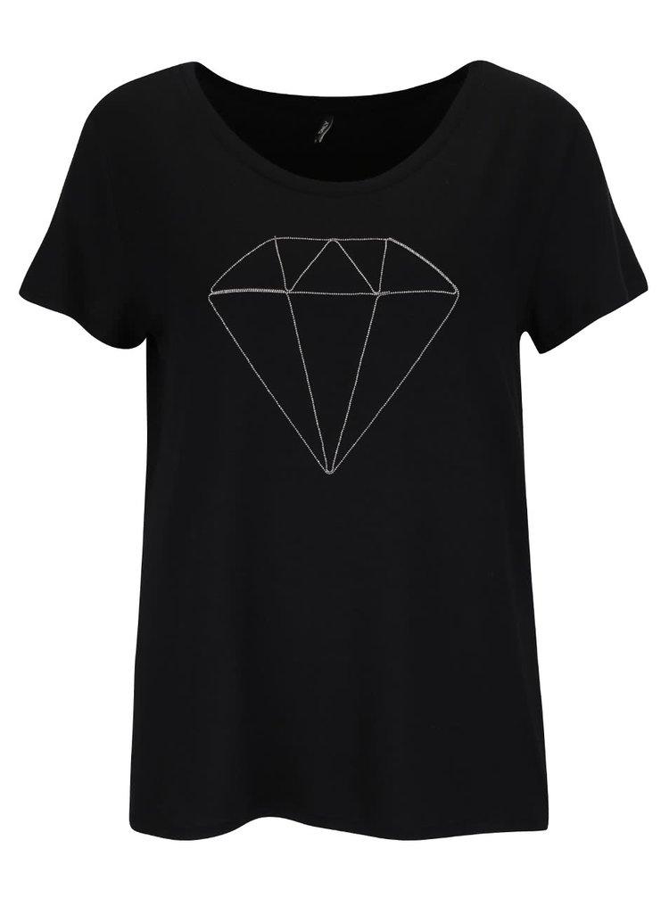 Tricou negru ONLY Alice cu print
