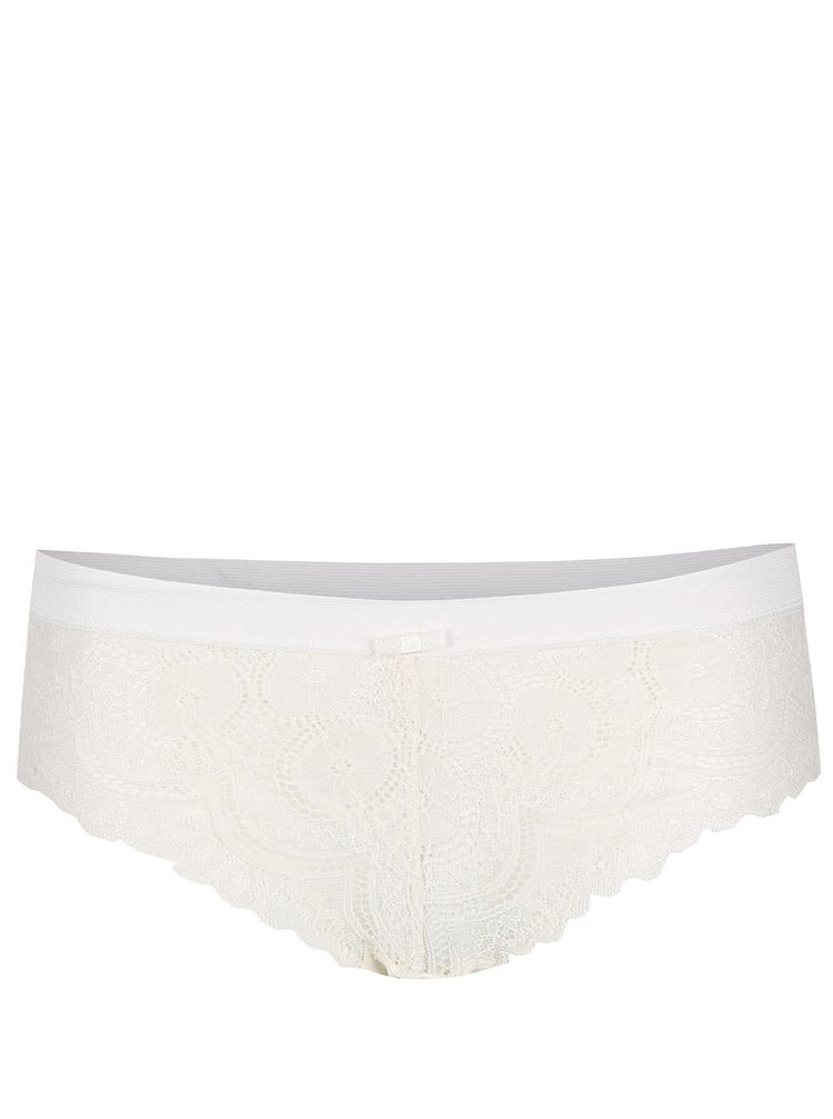 Krémové krajkové kalhotky ICÔNE Cesar