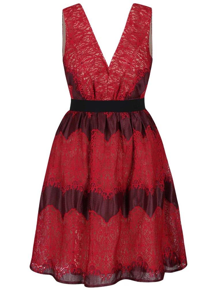 Červené šaty s výstřihem Little Mistress