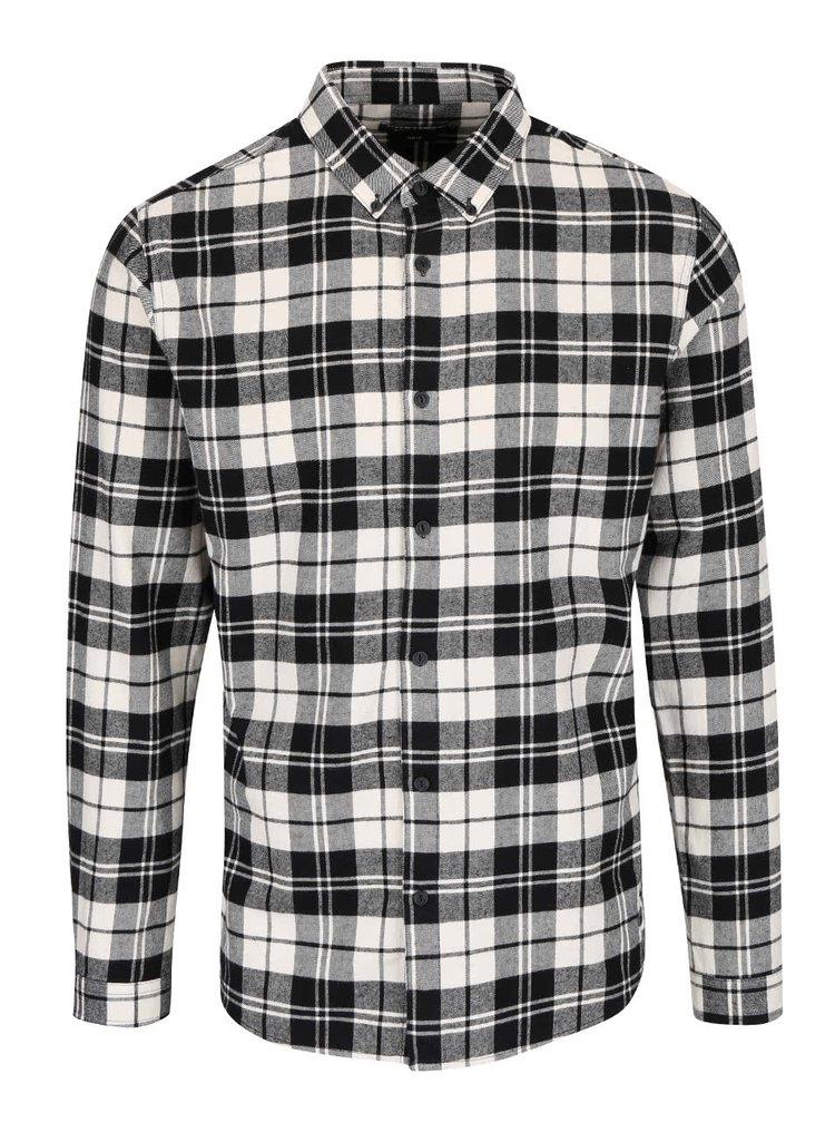 Krémovo-černá kostkovaná košile ONLY & SONS Sven