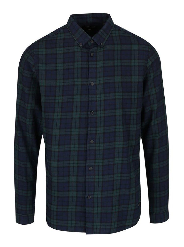 Zeleno-modrá kostkovaná košile ONLY & SONS Sven