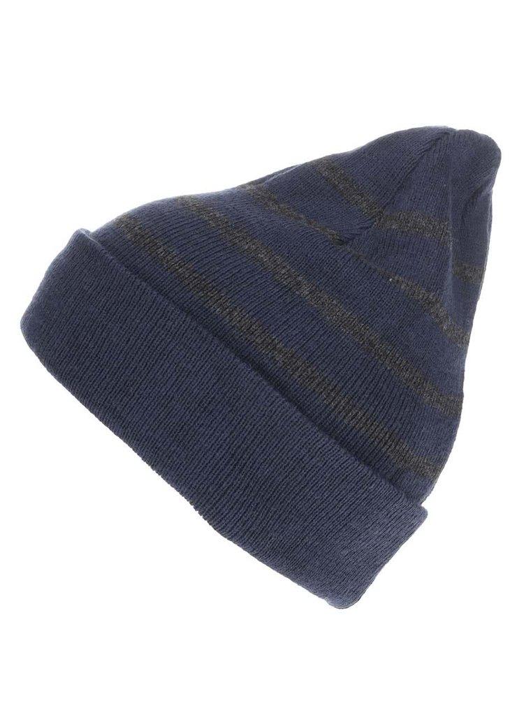 Tmavě modrá čepice s šedými pruhy Blend