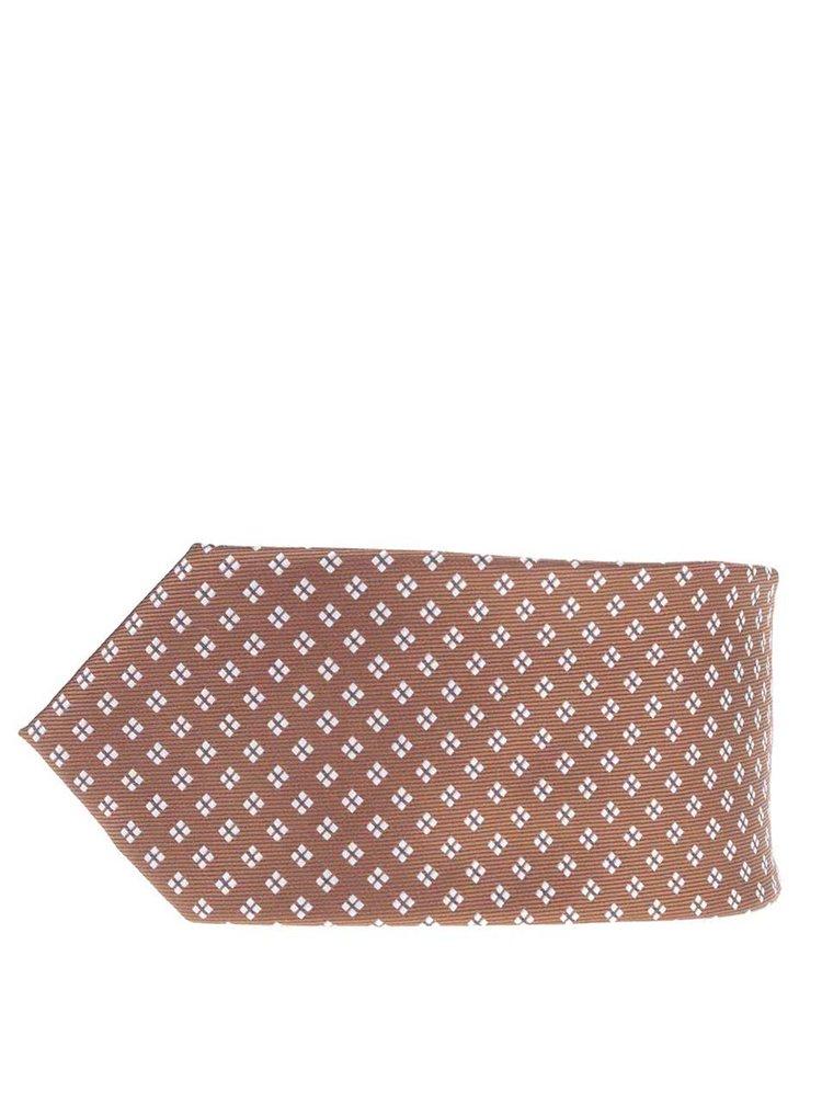 Cravată maro Burton Menswear London cu model discret