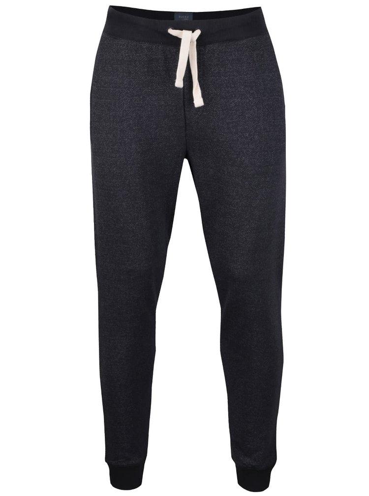Čierne melírované teplákové nohavice Blend