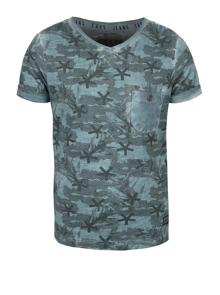 Tmavozelené chlapčenské tričko so vzorom Cars Jeans Barcio