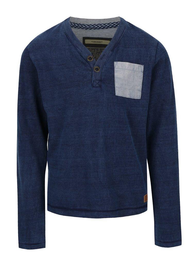 Modré klučičí triko s dlouhým rukávem Cars Jeans Panna
