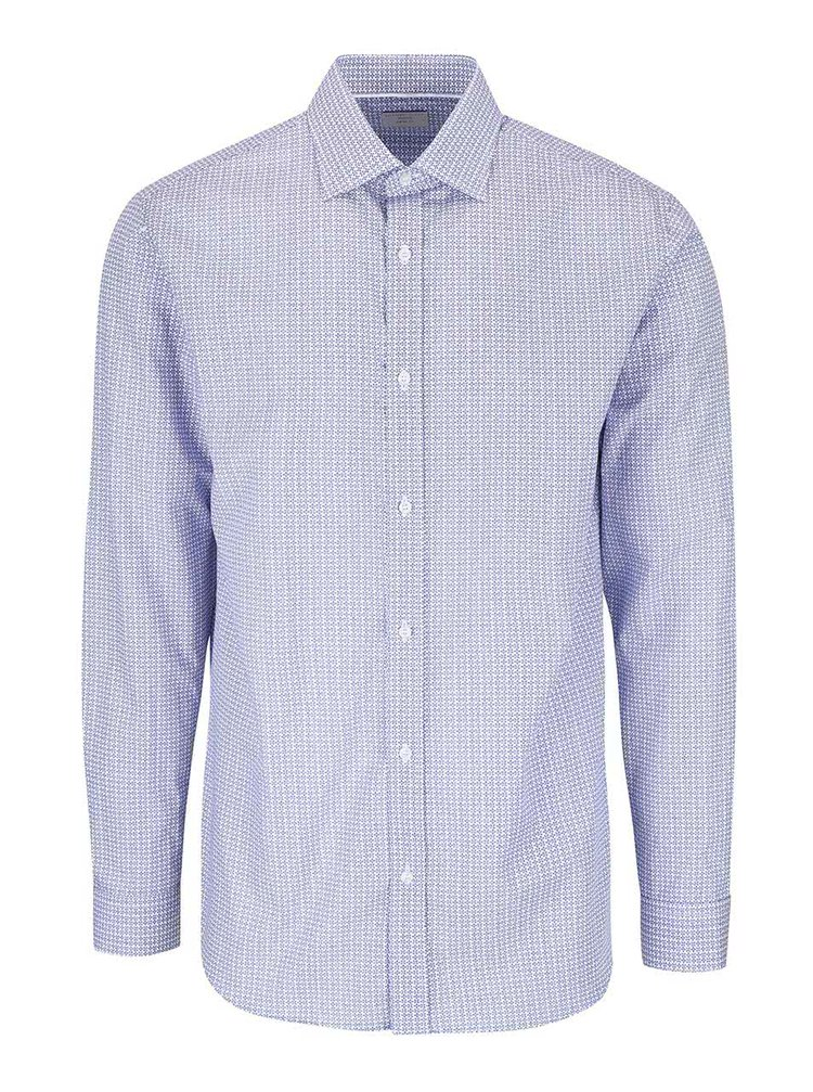 Modro-bílá vzorovaná košile Selected Homme Tim