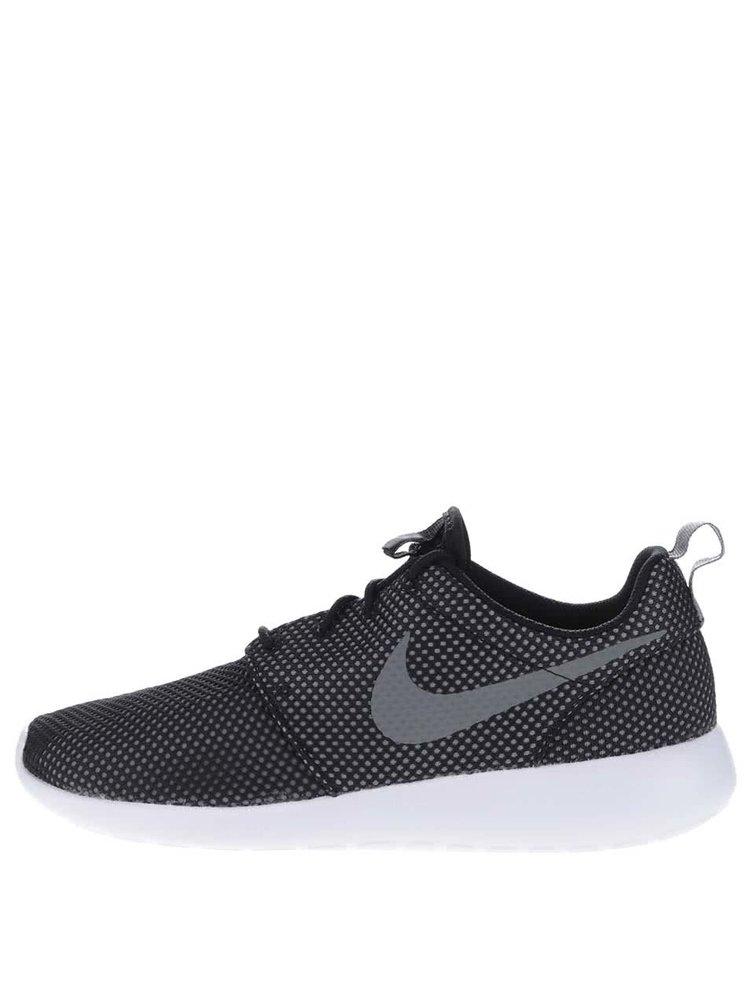 Šedo-černé pánské perforované tenisky Nike Roshe One