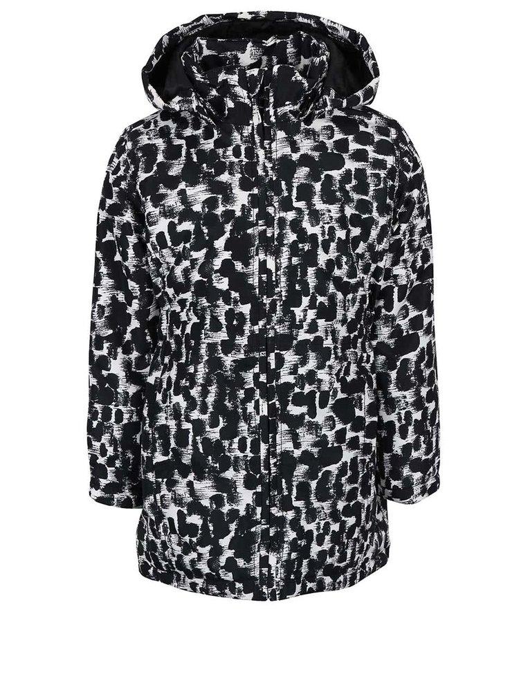 Černo-bílá vzorovaná holčičí bunda Name it Mello