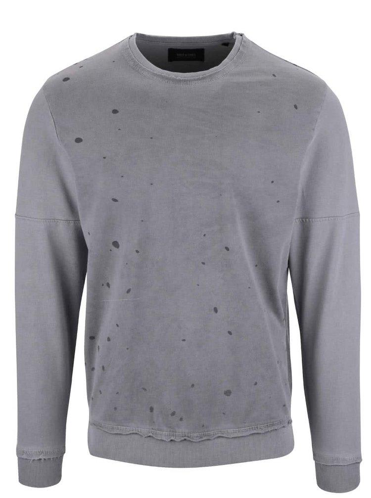 Bluză gri ONLY & SONS Jefrey cu model