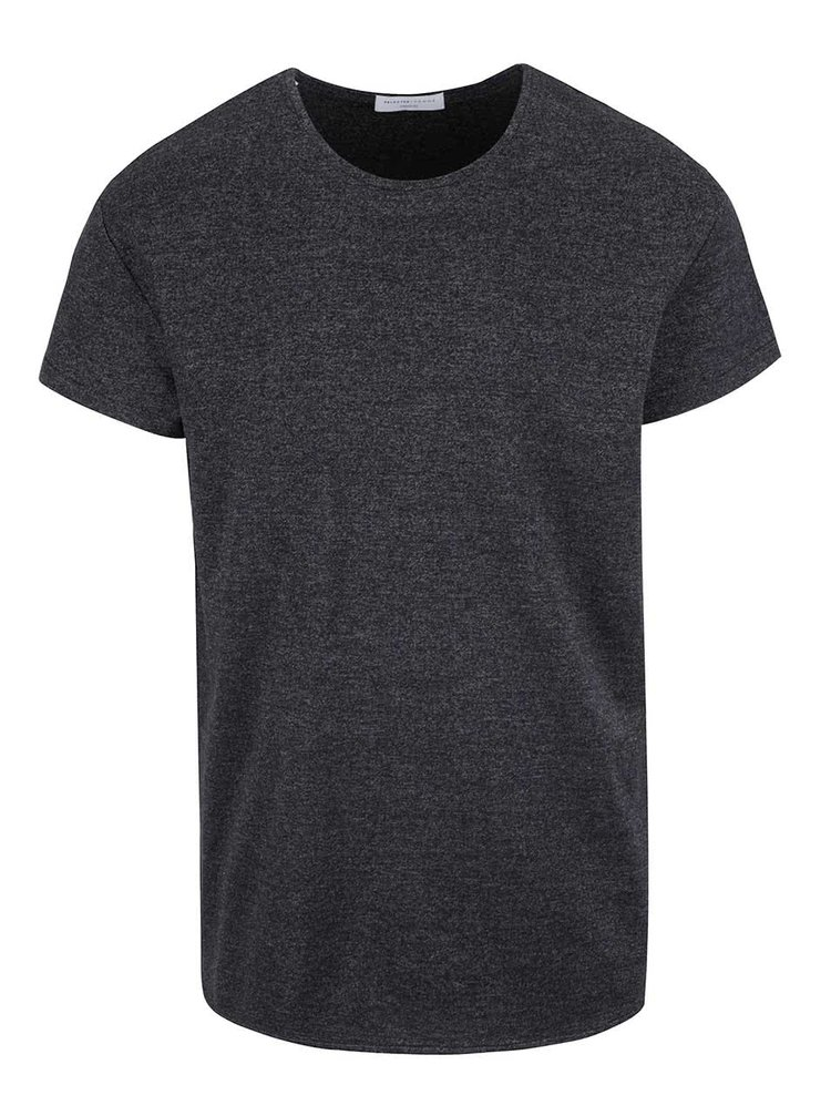 Tmavosivé tričko s krátkym rukávom Selected Homme Pine