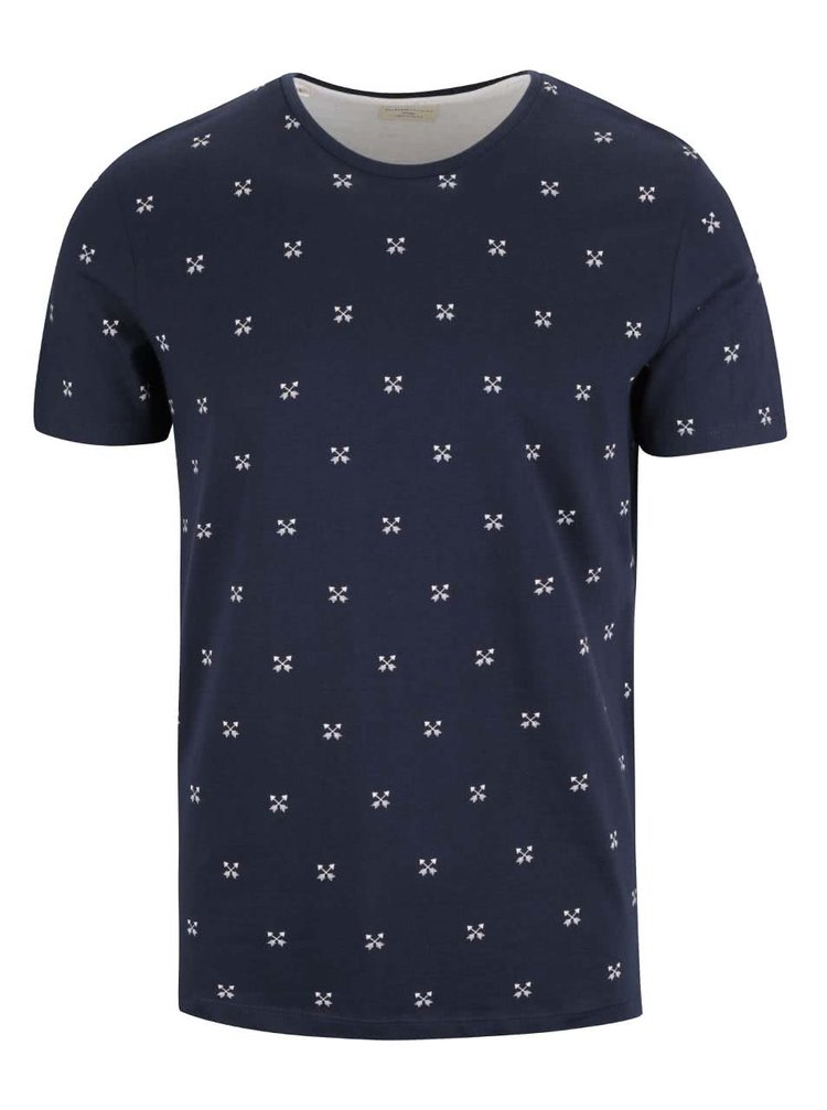 Tricou bluemarin Selected Homme New Luke din bumbac
