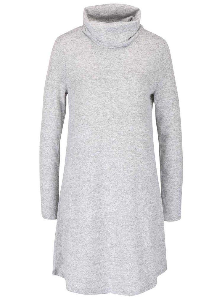 Sivé melírované šaty s rolákom VILA Hounds