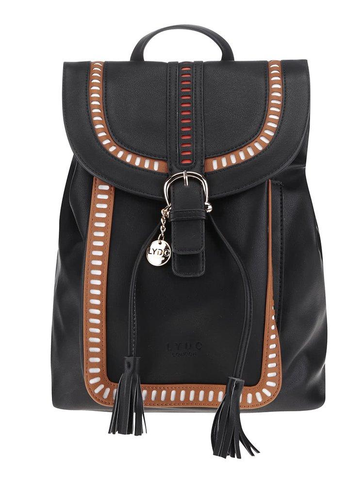 Hnědo-černý batoh s třásněmi  LYDC