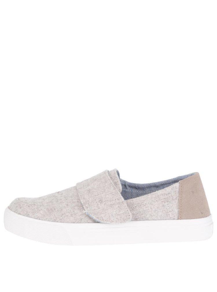 Béžové žíhané dámské boty Toms