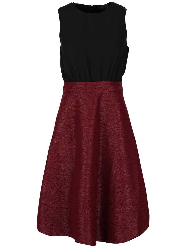 Čierno-vínové šaty bez rukávov AX Paris