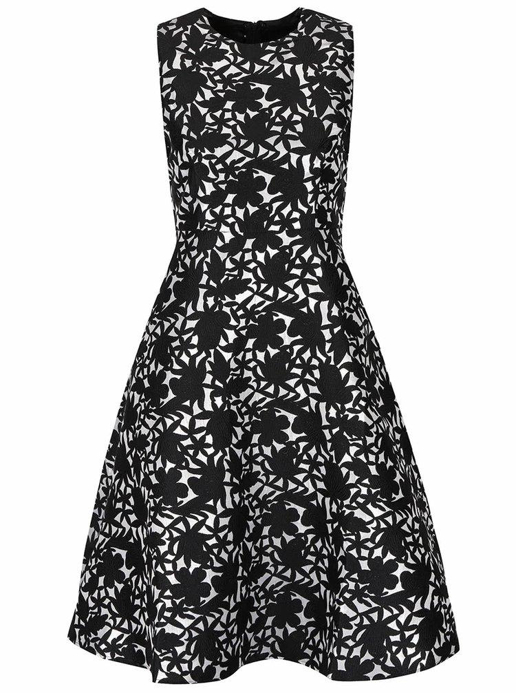 Čierno-biele vzorované šaty AX Paris