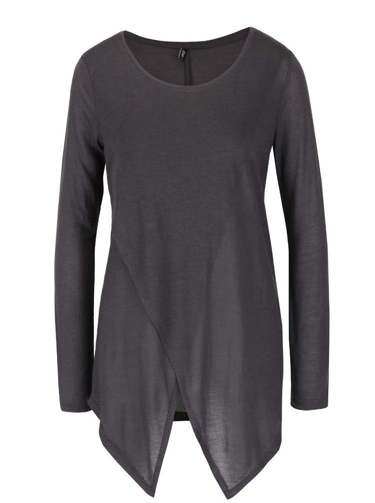 Bluză gri închis ONLY Palma asimetrică