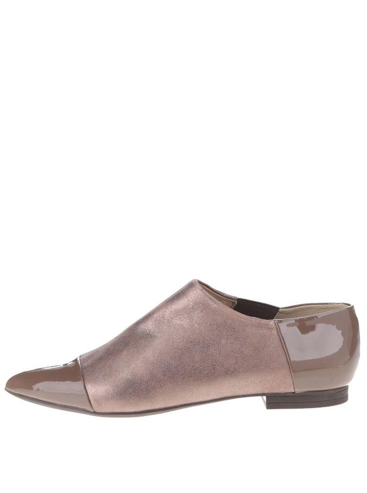Pantofi maro Geox Rhosyn D cu piele naturală