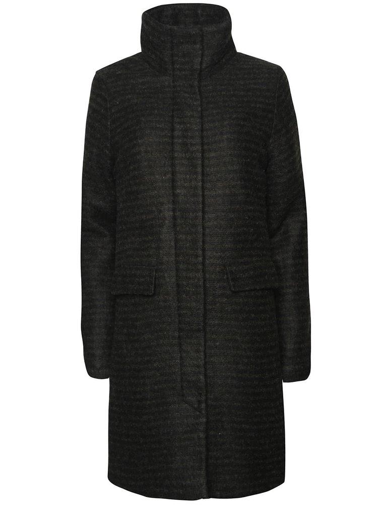 Tmavozelený kabát ICHI Cegaz
