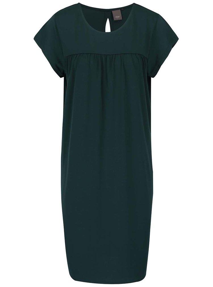 Tmavě zelené šaty ICHI Jaya
