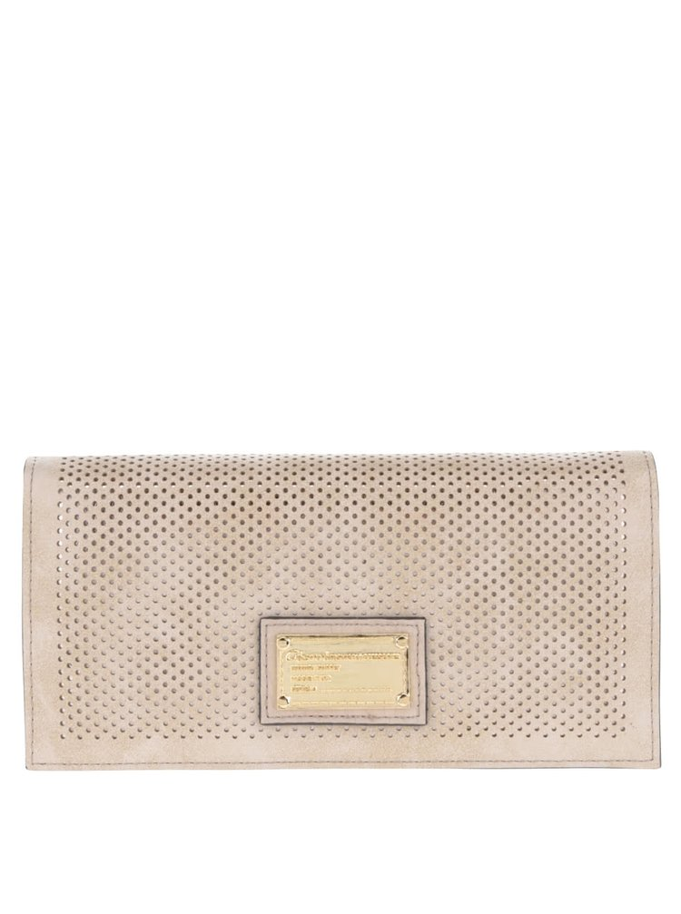 Béžová dámska brogue peňaženka Gionni Suellen