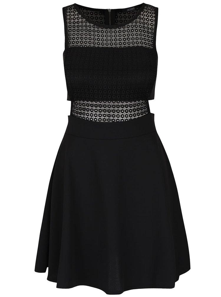 Rochie neagră Haily´s Juliana cu dantelă