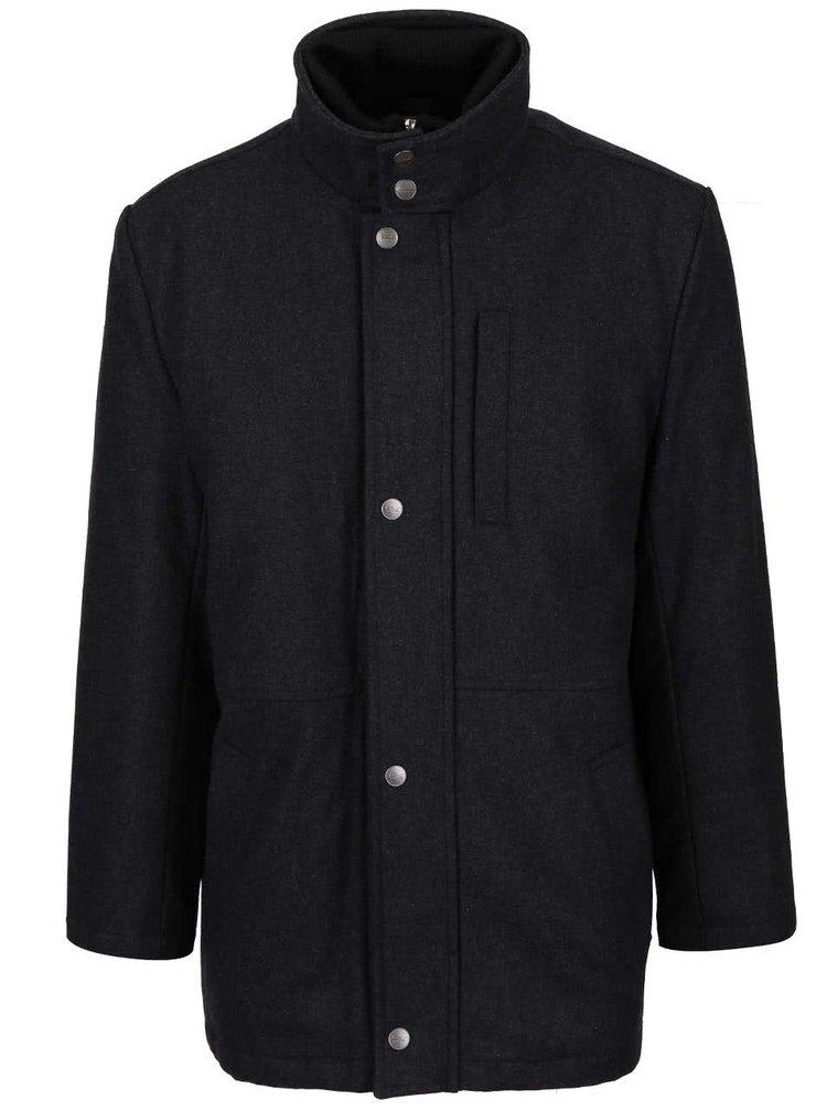 Tmavě šedý pánský kabát Seven Seas