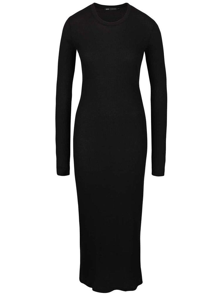 Rochie neagră maxi gsus din jerseu