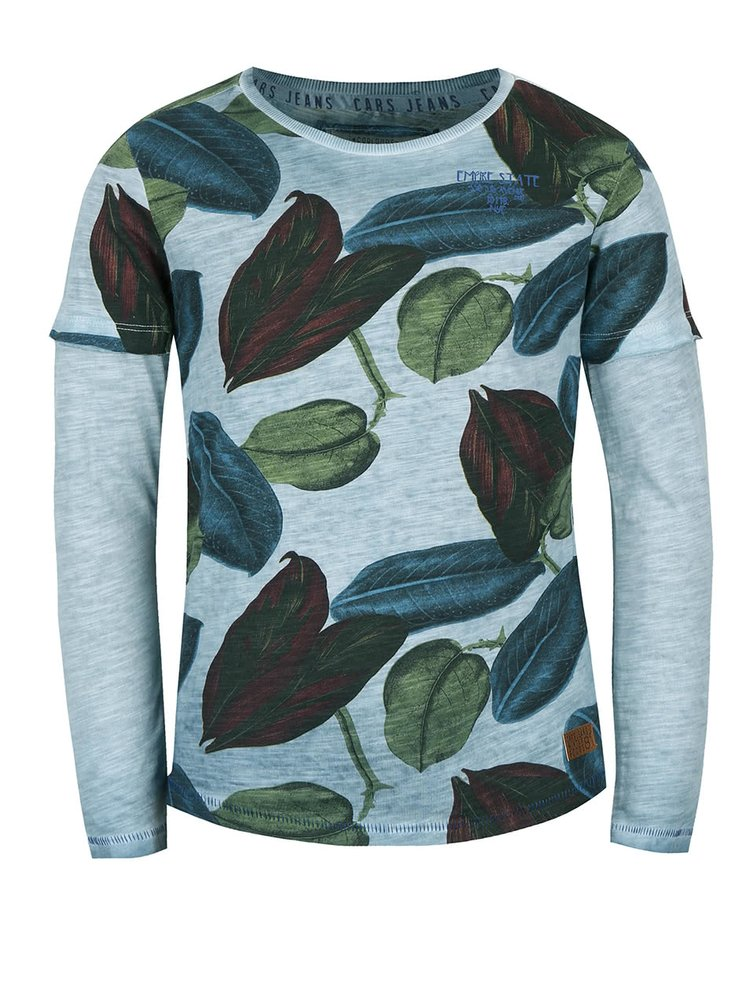 Bluză gri cu imprimeu frunze Cars Jeans Duo pentru băieți