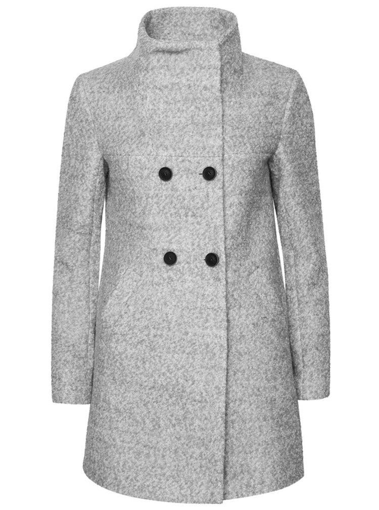 Světle šedý kabát ONLY New Sophia