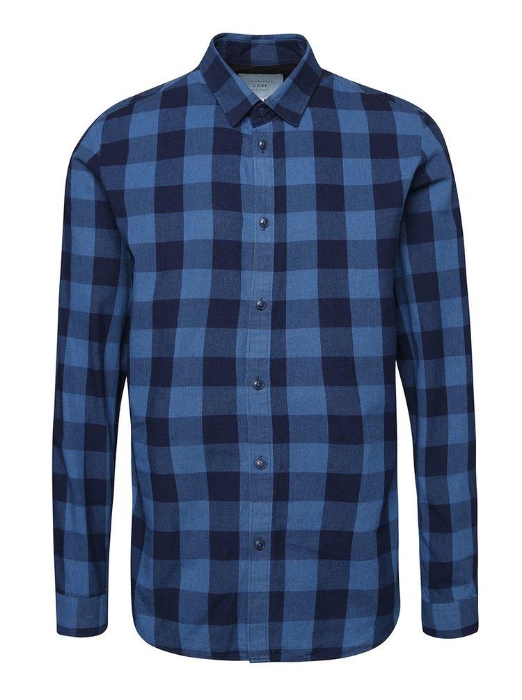 Modrá kockovaná košeľa Jack & Jones Adam