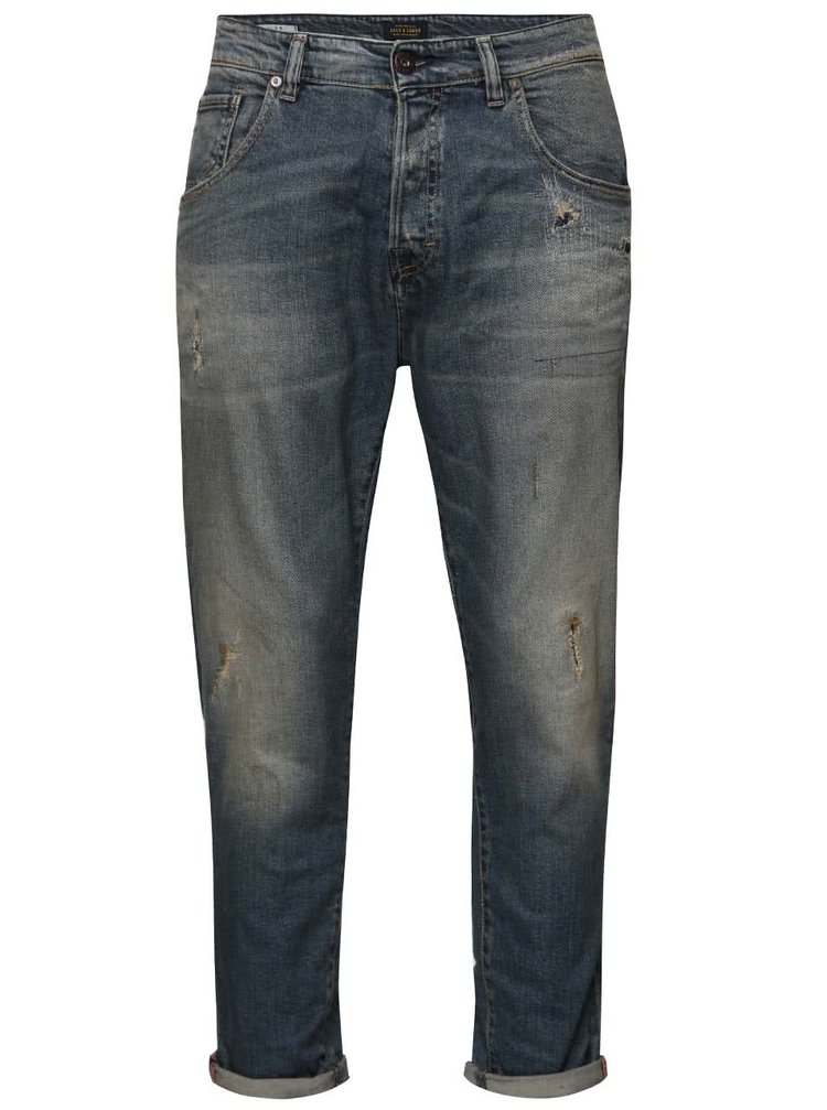 Blugi albastri regular fit Jack & Jones Frank
