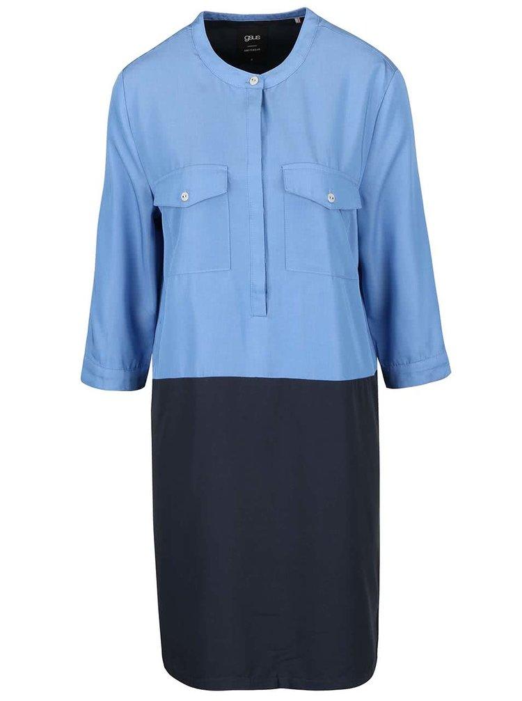 Sivo-modré šaty s vreckami gsus