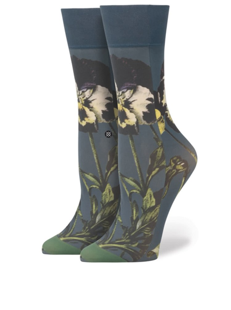 Șosete albastre cu model Stance Black Iris de damă