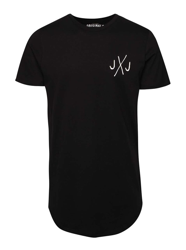 Černé triko s logem Jack & Jones Break