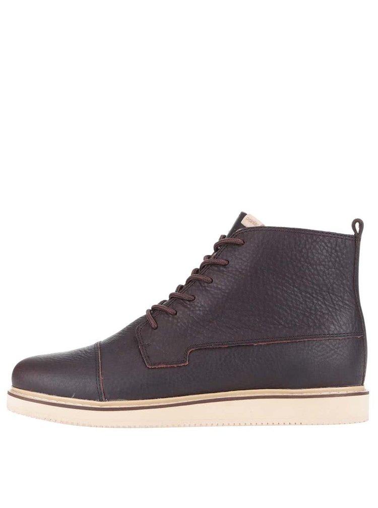 Tmavohnedé pánske kožené členkové topánky Pointer Willard