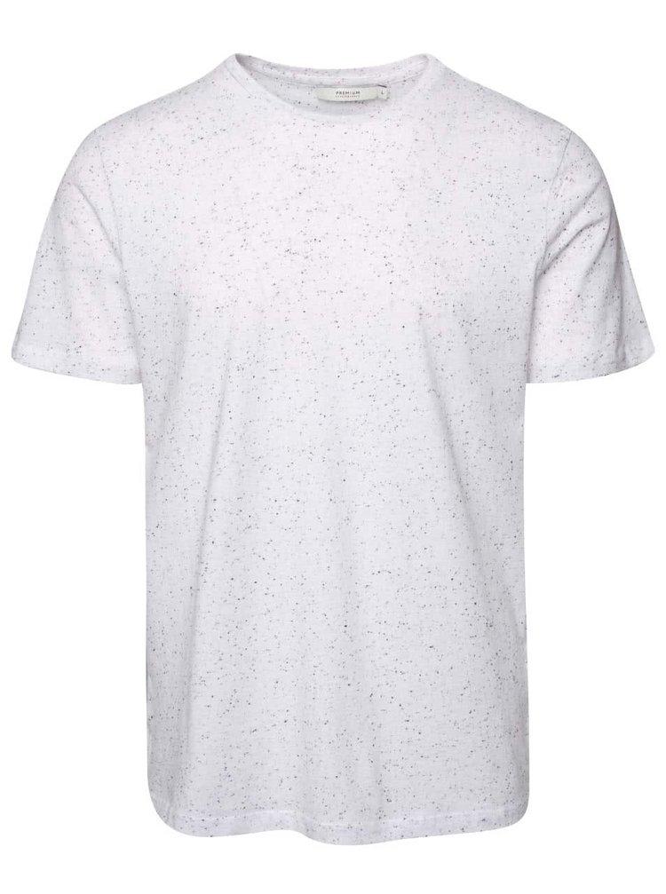 Biele tričko s čiernymi detailmi Jack & Jones Naps