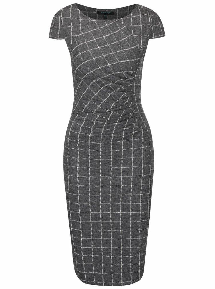 Rochie gri Fever London Highlands cu model geometric