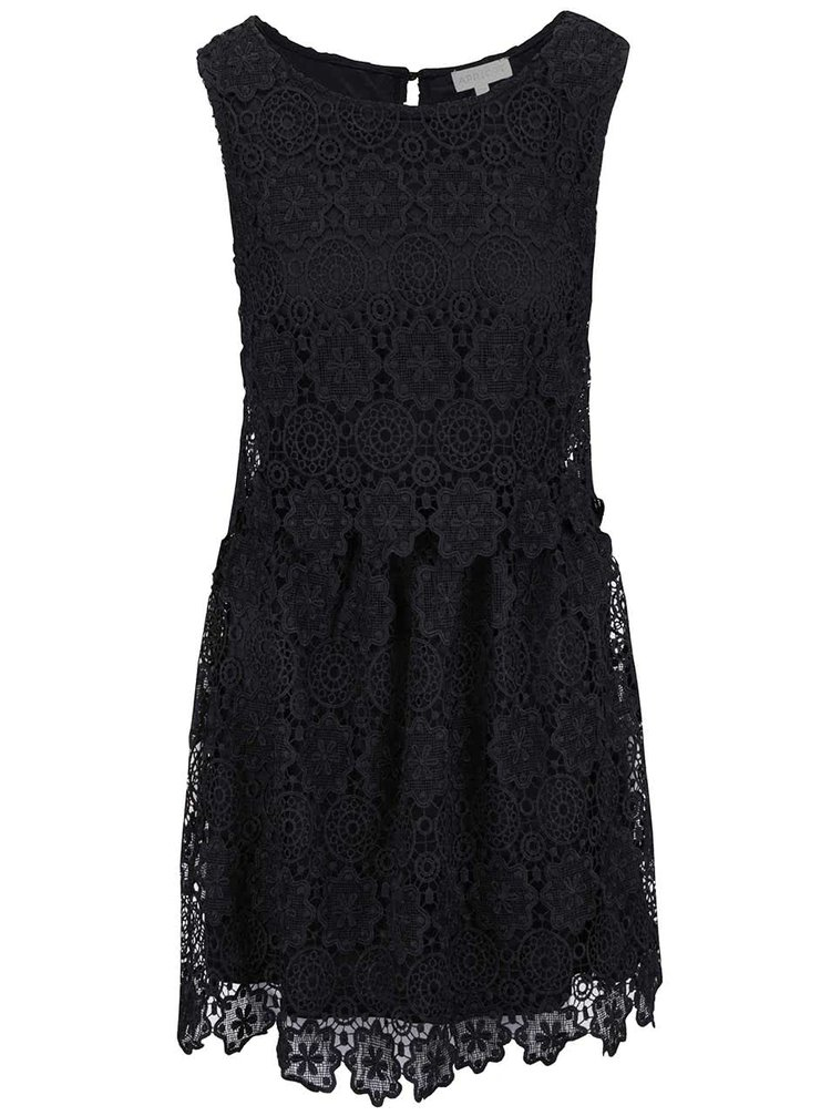 Čierne čipkované šaty Apricot