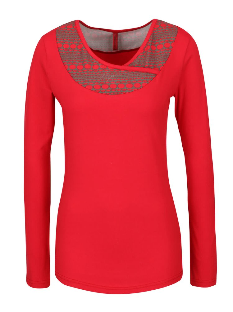 Červené tričko s dlouhým rukávem Tranquillo Burni