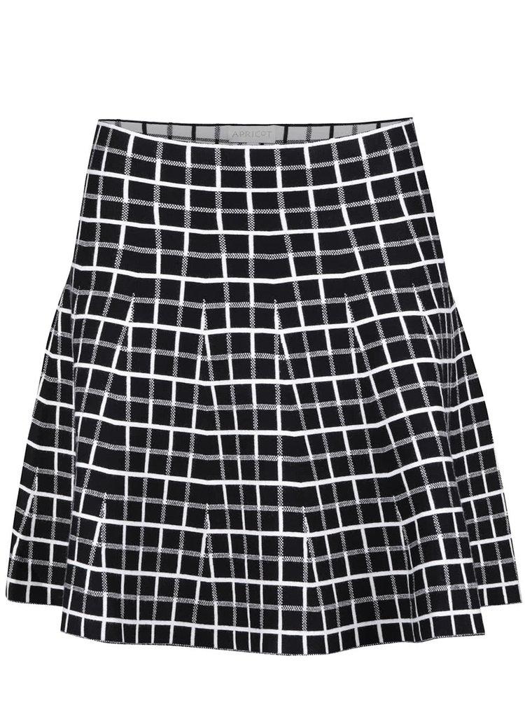 Krémovo-černá kostkovaná sukně Apricot