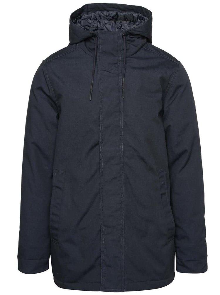 Tmavě modrá pánská bunda s kapucí RVLT